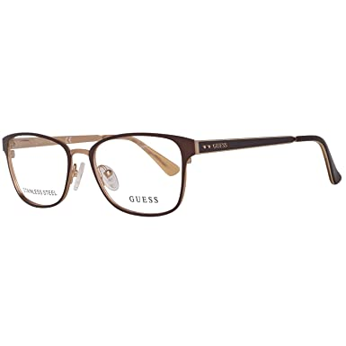 ab49eb55b82 Image Unavailable. Image not available for. Color  Guess Women s Eyeglasses  GU2550 GU 2550 049 Black Full Rim Optical ...