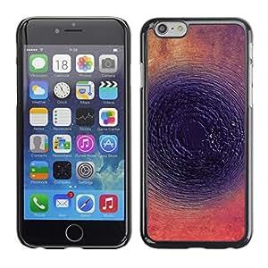 "Pulsar Snap-on Series Teléfono Carcasa Funda Case Caso para Apple Iphone 6 Plus / 6S Plus ( 5.5 ) , Tinta Oscuro Resumen Ronda"""