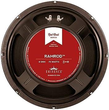Amazon.com: Eminence Red Coat Ramrod 10 Inch Guitar Speaker 75 ...