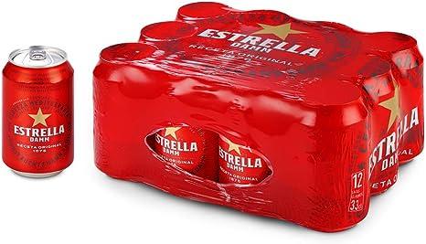Estrella Damm Cerveza - Pack de 12 Latas 33cl: Amazon.es ...
