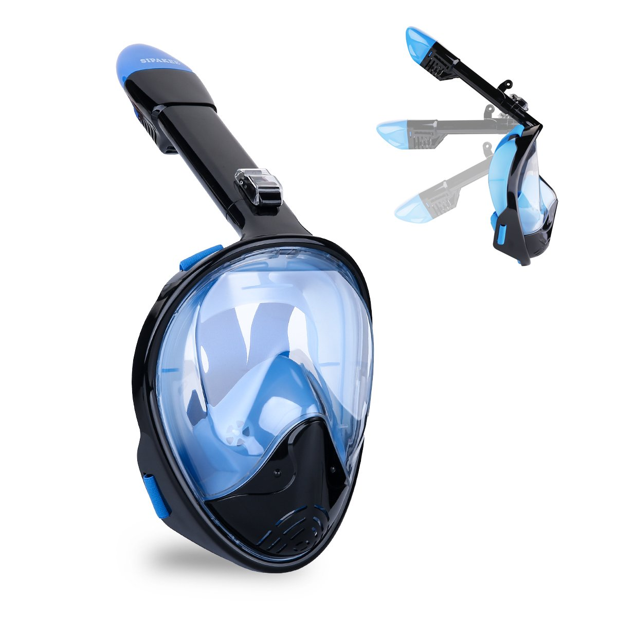 SIPAKEE Snorkel Mask 180° Panoramic Anti-Leak Anti-Fog Snorkeling mask Set with Suitable for adults and children