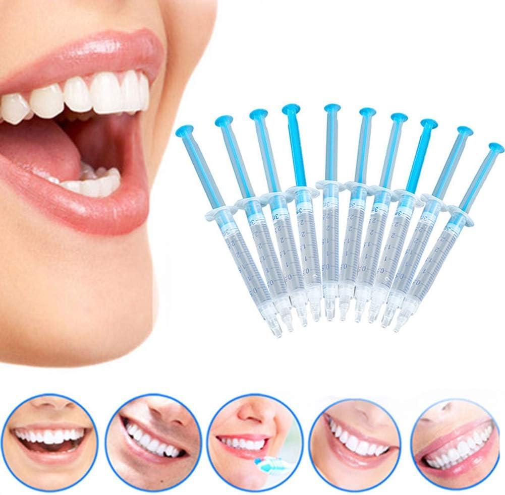 NAttnJf Cuidado de los Dientes Cuidado bucal Fácil de Usar 10 Piezas de blanqueamiento Dental peróxido de Gel blanqueamiento Dental Kit Dental para el Cuidado Dental: Amazon.es: Electrónica