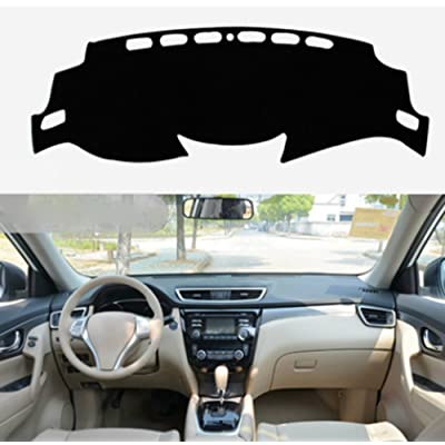 Salusy Black Dashboard Dash Protector Dash Mat Sun Cover Pad Compatible with Nissan Rogue X-trail 2014 2015 2016 2020 2020 2020/Nissan Rogue Sport SUV 2020 2020 2020 2020: Automotive