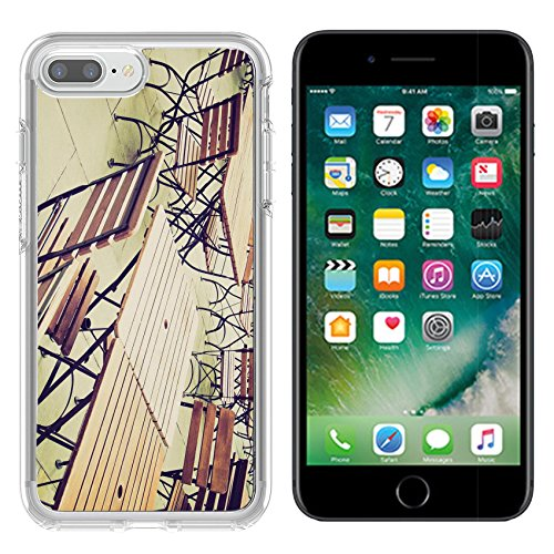 (Luxlady Apple iPhone 7/8 Clear case Soft TPU Rubber Silicone Bumper Snap Cases iPhone7/8 IMAGE ID 27620877 Vintage looking Tables and chairs of a dehors alfresco bar restaurant pub)