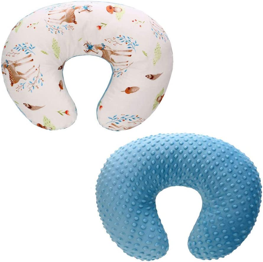 Nursing Pillow Not Included Nursing Pillow Cover Luccase Movable Baby Head Positioner Feeding Pillow Boppy Cushion Case Breastfeeding Slipcover Baby Shower Gift