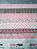 quilter flannel - Joann's, Kaufmann, Moda, Snuggle, Comfy, Cozy Contemporary Pre-Cut Flannel Quilting Pieces: 20 pc Jelly Rolls (Pink, Gray Elephants, 2.5