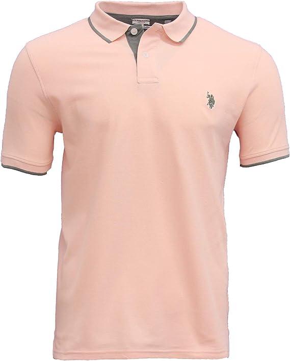 EE.UU. Polo ASSN. Polo Simple para Hombre Color Rosa: Amazon.es ...