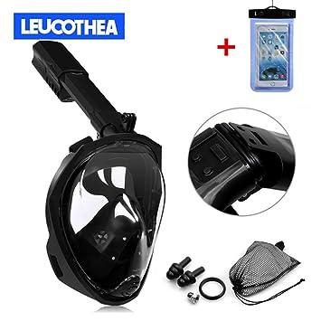 Leucothea® Vista panorámica plegable de 180 ° Máscara de respiración facial de respiración fácil con