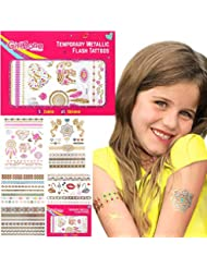 Temporary Tattoos for Kids - Kids Tattoos - Party Favors - Great Birthday Gift Present for Girls of All Ages