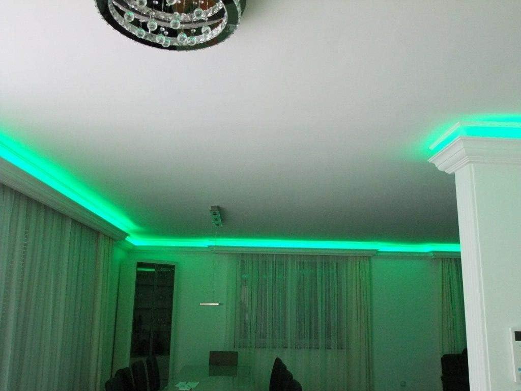 20m+4 Ecken Indirekte Beleuchtung LED Lichtprofile Wand Stuckleiste Profil BL 03
