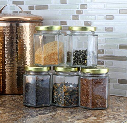 Review 6-Ounce Hexagon Glass Jars
