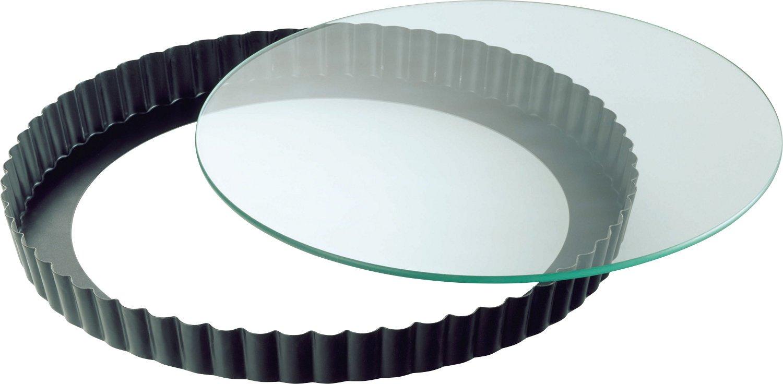 Kaiser Crystal Baking Molde Redondo Desmontable con Base de Cristal, Negro, 28 cm product