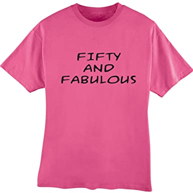 Amazon Awesome Graphics Fifty And Fabulous 50th Birthday Tee