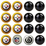 NFL Pittsburgh Steelers vs Indianapolis Colts Pool Ball Billiard Set