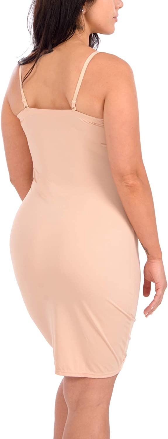 Body Beautiful Womens Full Body Slip Shaper with Lace Trim at  Women's Clothing store