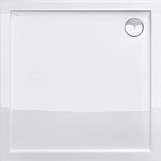 Duschwanne 100x100cm reinweiß Duschtasse quadratisch extra flach Bad