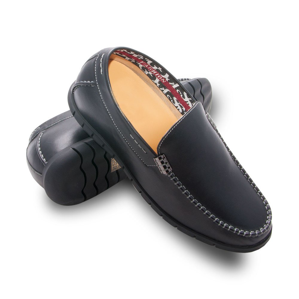 ZERIMAR Height increasing elevator shoes for men.Add +2,4 inches to your height. Quality 100% leather shoes. Made in Spain(Black, 40 EU/US 8 )