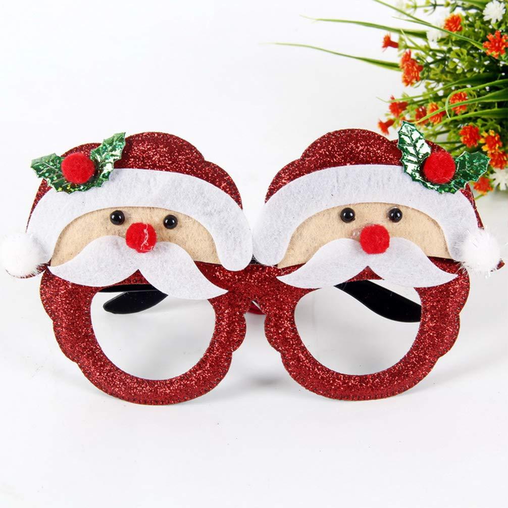 Amosfun Bomboniere per feste in costume per vacanze in costume per occhiali da sole per cosplay di occhiali da sole con cornice di occhiali di Natale da 9 pezzi