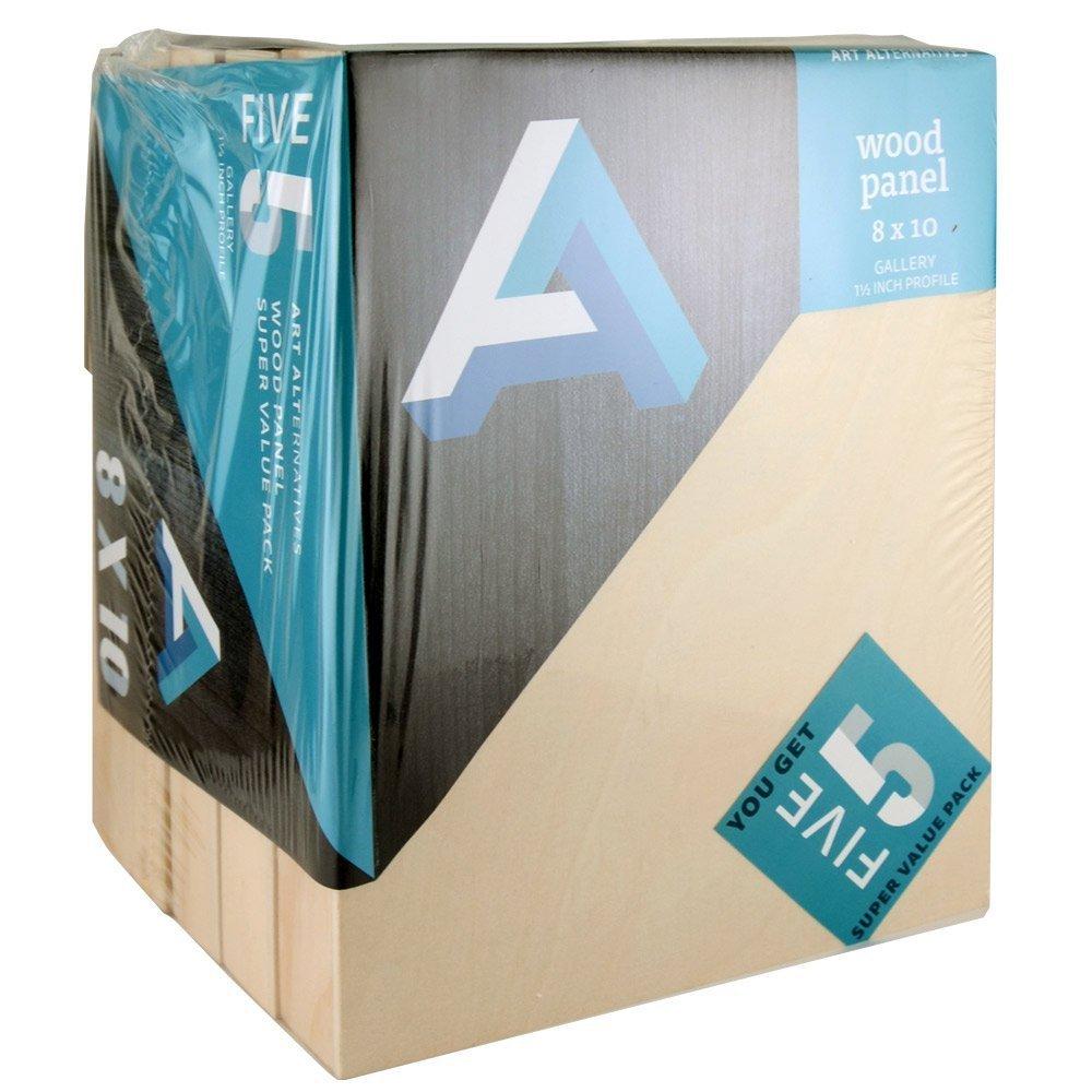 Art Alternatives Wood Panel Super Value Gallery 8x10 Pack of 5 by Art Alternatives