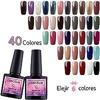 Vilamon Elige Cualquier 6 Color Esmalte Semipermanente Gel Uñas Sock-Off 8ml Esmalte en Gel Kit Uñas de Gel para Manicura Pedicura