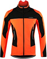 Lixada サイクルジャケット 冬用 裏起毛 長袖ロングジャージ ウインドブレーク フリース 撥水 サイクルウェア 自転車 サイクリング…