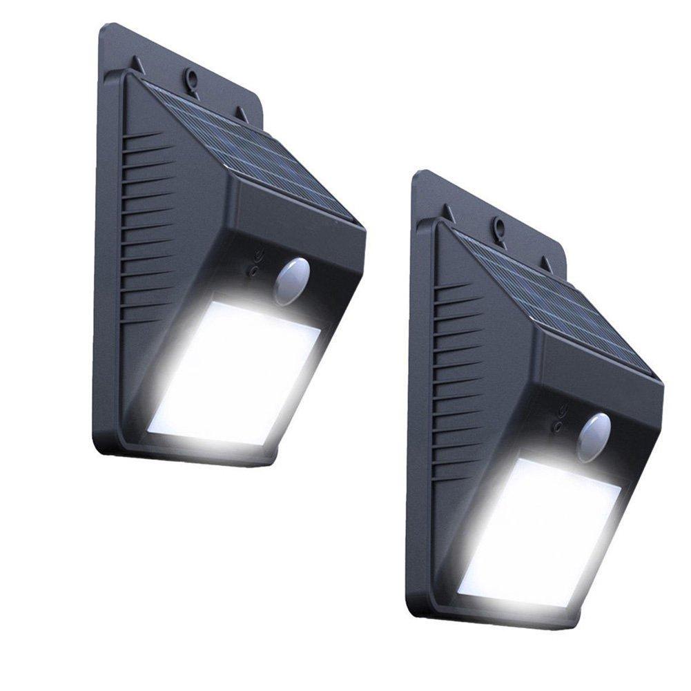 Easydeal 2× LED Solar Powered Motion Sensor Light Security PIR Garden Wall Light Lam