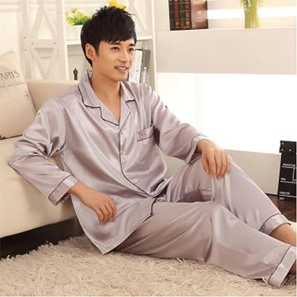 MOXIN Set de pijamas de seda de alta calidad para hombre , xl , D