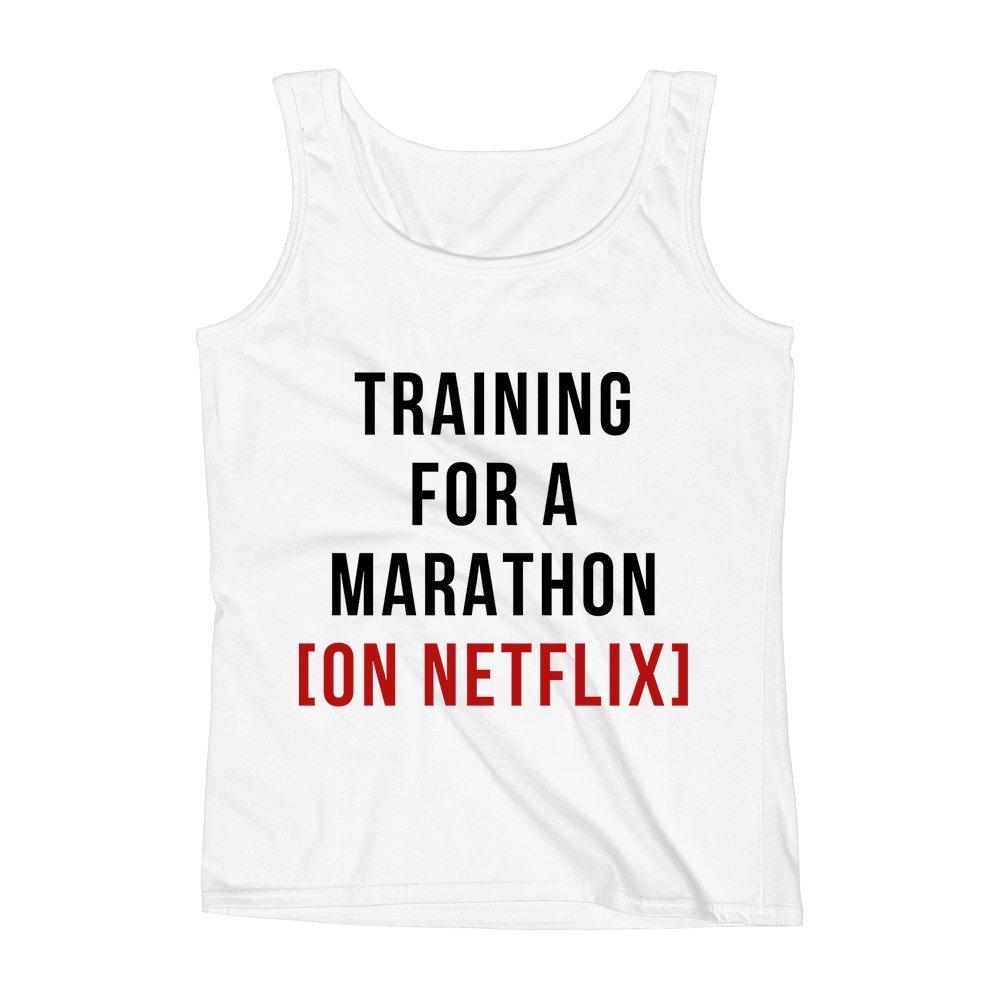 Mad Over Shirts Training For A Marathon Social Animal Unisex Premium Tank Top