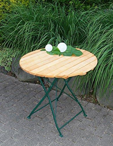 Gartentisch Klapptisch Tisch Rund Gartenmobel Biergarten Robinie Mit