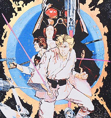 GOZOO Star Wars 40 Years T-Shirt Herren Manga Wars Movie Poster Schwarz
