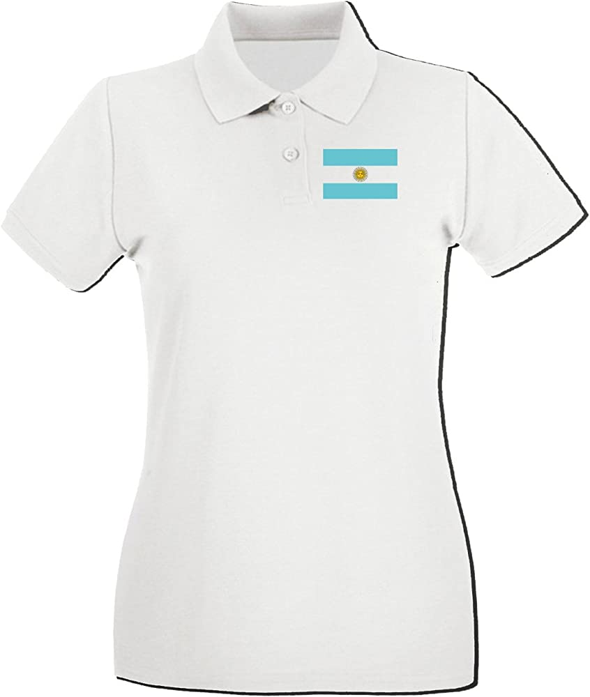 T-Shirtshock - Polo para mujer TM0159 Argentina flag, Talla L ...