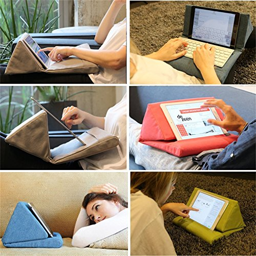 Vipe Tablet Pillow for IPad Reading Pillow Mini Tablet IPad Holder Sofa  Reading Stand iPad Pillow Stand(Black)