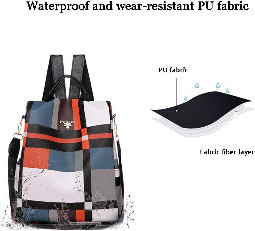 Backpacks Sac À Dos, Sac de Voyage Extérieur Non Tissé Imperméable pour Dames White