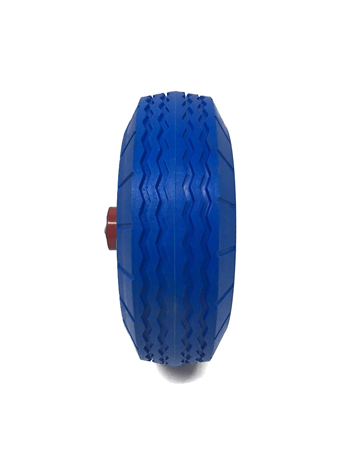 """UI PRO TOOLS 2PC IMPORTER 8.5/"""" Flat Free Rubber Tire 5//8 Bearing Hole Solid Tire Wheel Lawn /& Garden Dolly Hand Truck Cart//All Purpose Utility Tire on Wheel 8.5D-2PC"""