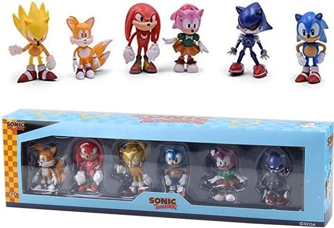Figuras 3D Kits de Figuras de Modelos de Anime The Hedgehog Sega Super Sonic 1st 2st 4st Generation Boom Rare Shadow Knuckles-1.0 Colección en Caja: Amazon.es: Hogar