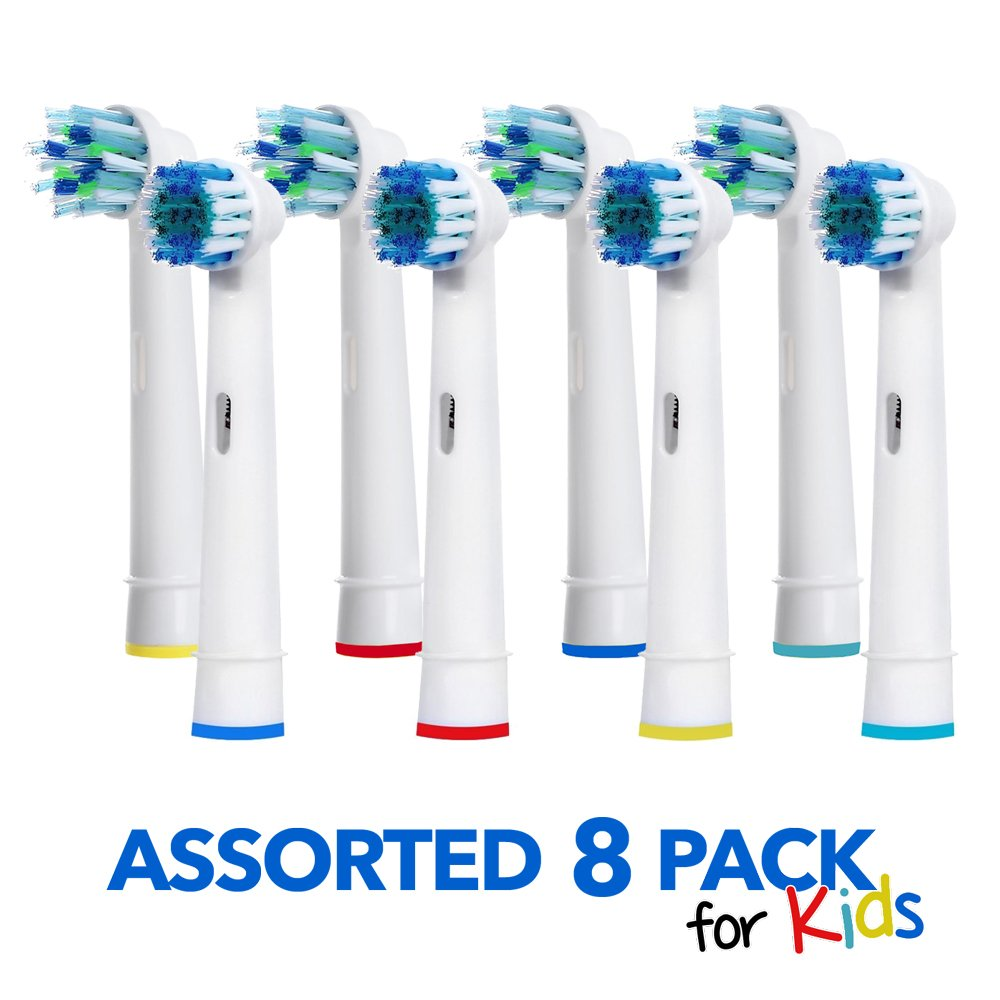 Generic Oral B Braun Replacement Brush Heads - 8 Pack Oralb Variety Toothbrush Heads - Easy Cleaning For Kids & Adults - Electric Toothbrush Replacement