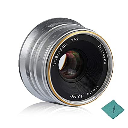 7artisans 25mm F1 8 Manual Focus Lens Large Aperture for Sony A7
