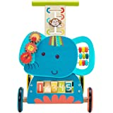 TRYSHA Baby Walker, 3-in-1 Use as Push Along Toy, Blue Elephant Mobility Walker for 1-3 Years, Wooden Walker Kid/Pull…