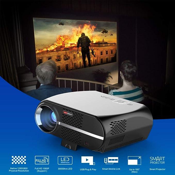 ZCCZ-AA Proyector de HD Completo Gp100 Inicio proyector Nuevo 1280 ...