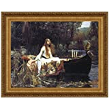 Design Toscano Lady of Shalott, 1888, Canvas Replica Painting: Grande