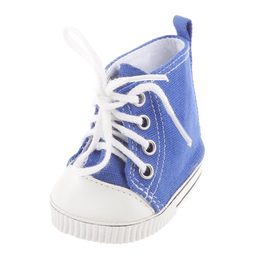 MagiDealクラシックブルーキャンバス靴スニーカーフィット18 B01CSD8BRU