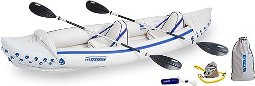 Sea Eagle 370 Pro 3 Person Inflatable Portable Sport Kayak Canoe