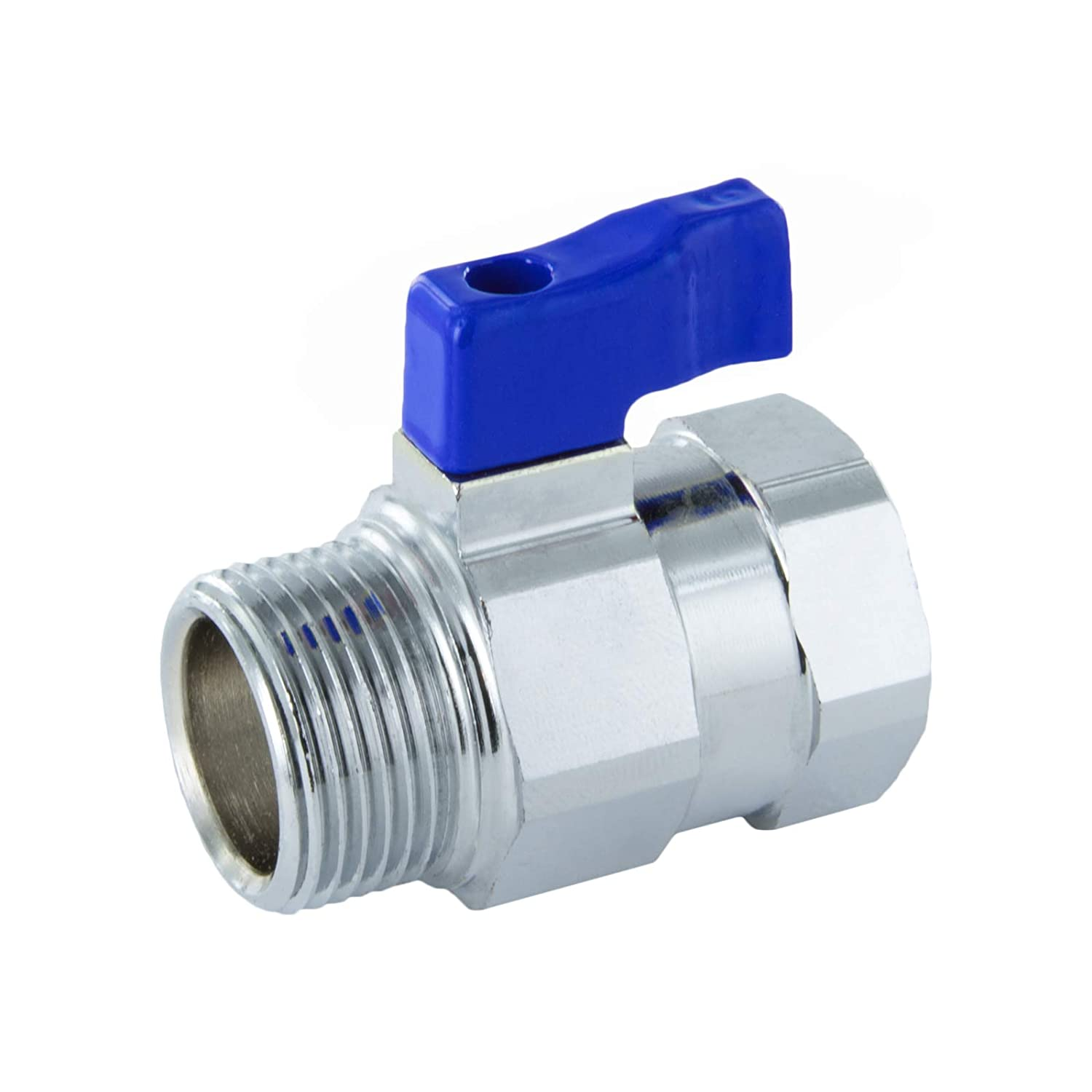 1//8 Mini ball valve with reduced bore with butterfly handle and internal//external thread