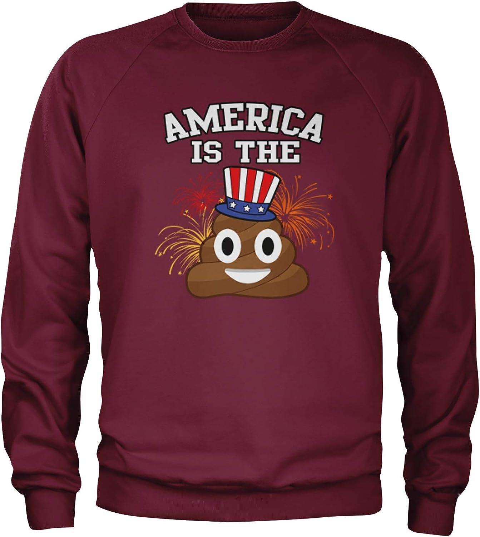 Expression Tees America is The Poop Emoticon Crewneck Sweatshirt