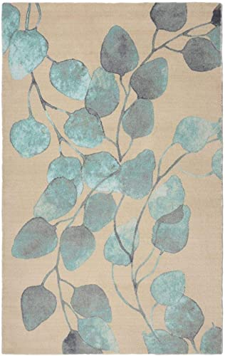 Rugsmith Ficus Modern Floral Area Rug, 7 6 x 9 6 , Turquoise