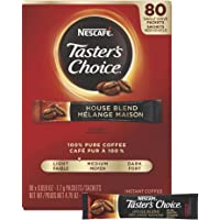 Nescafe Coffee, Taster's Choice, House Blend Stick Packs, 80 Count 4.79 Ounce