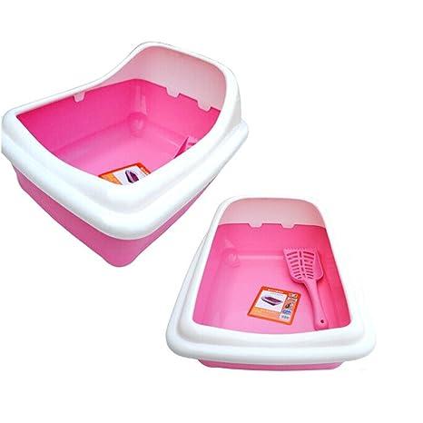 DESESHENME 1PCS caja de arena grande cat bowl pequeño gato semi-cerrado suministros cat liteter