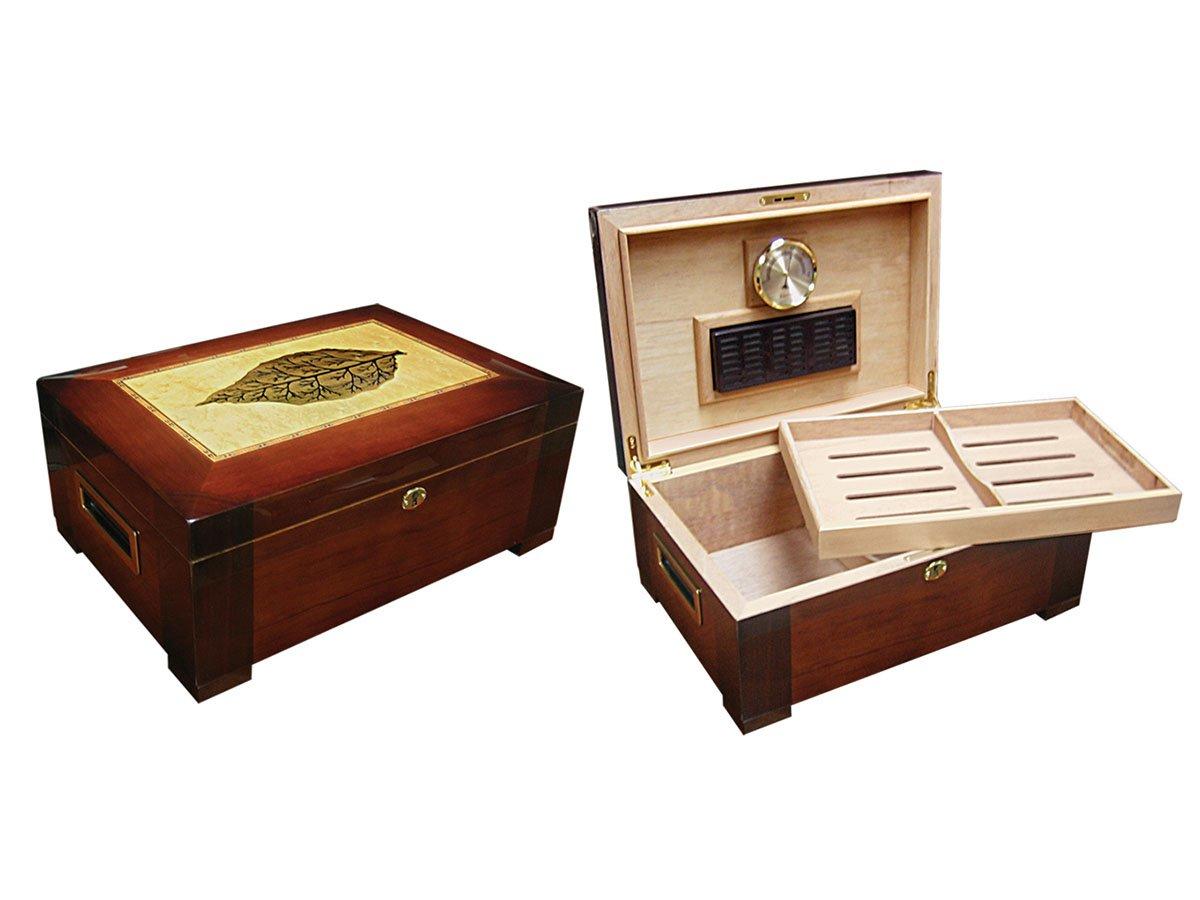 amazoncom prestige import group the caesar classic antique humidor color french antique walnut home u0026 kitchen - Cigar Humidors