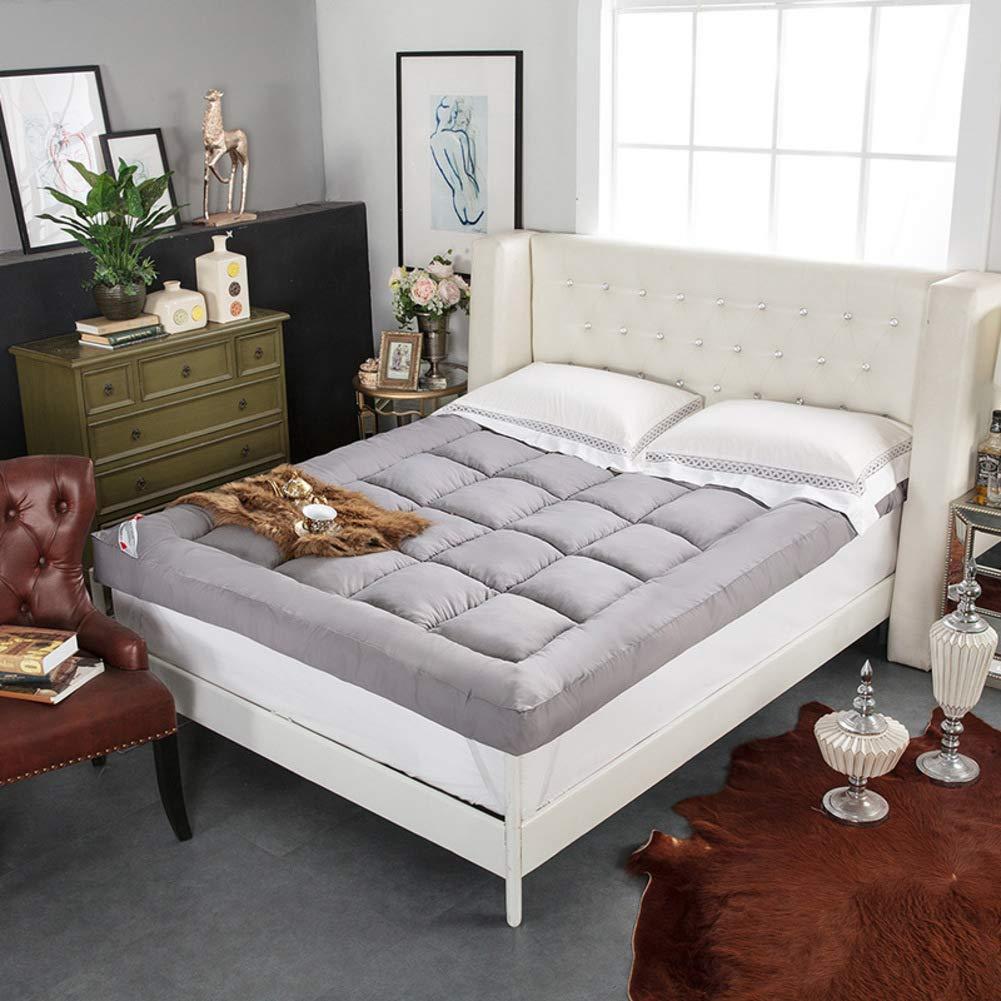 D 120x200cm(47x79inch) Feather Velvet Filling Sleeping Futon Tatami Mattress, Thicken Floor mat Pad Foldable Cushion mats Quilted Non-Slip Mattress Topper-G 120x200cm(47x79inch)