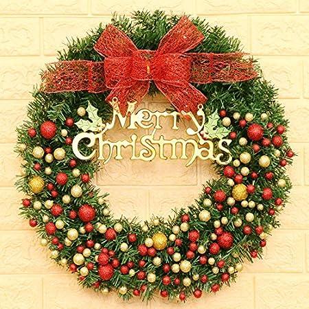 Kyerivs 24 Inch Christmas Wreath Door Wall Ornament Artificial